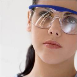 Girl with PPE glasses